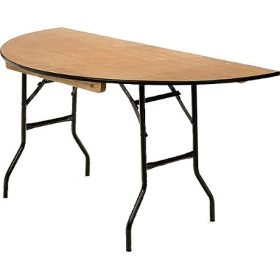 5ft D End Table Hire London
