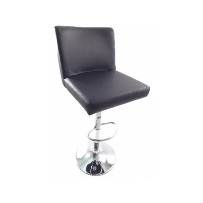 Black Leather Soft Pad Stool Hire