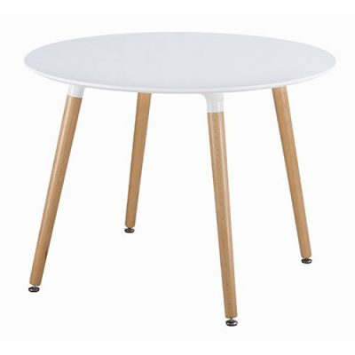 DSW White Round Dining Table Hire London