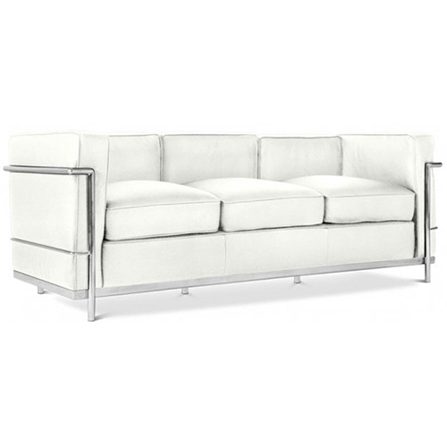 Le Corbusier 3 Seat Sofa Hire - White Hire London