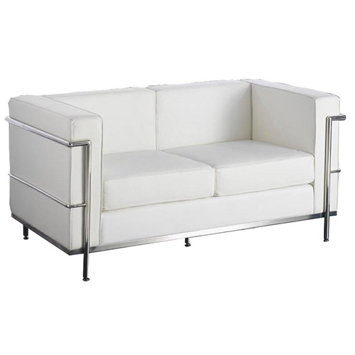 Le Corbusier White 2 Seat Sofa Hire