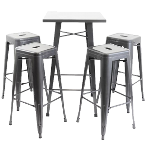 Tolix Bar Table Chair Hire London