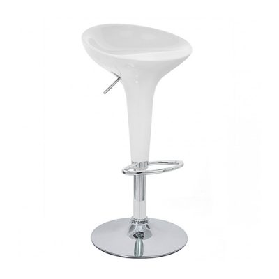 White Bombo Style Bar Stool Hire