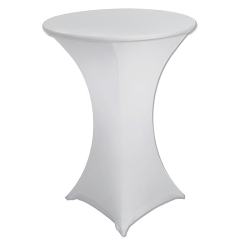 White Covered Poseur Table Hire London