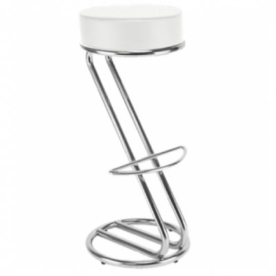 White Crushed Velvet Z Bar Stool Hire