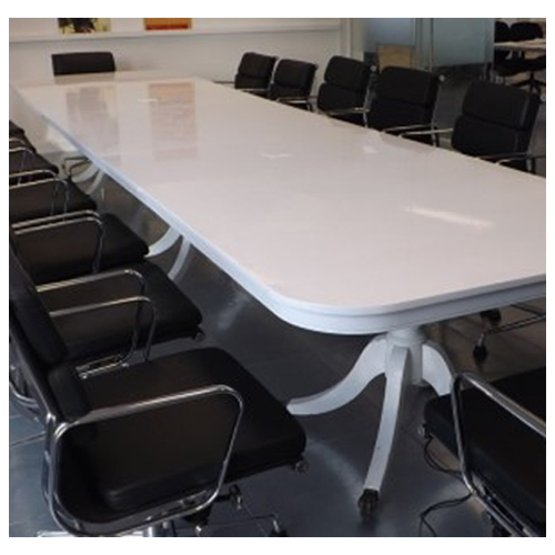 White antique Boardroom Table Hire London