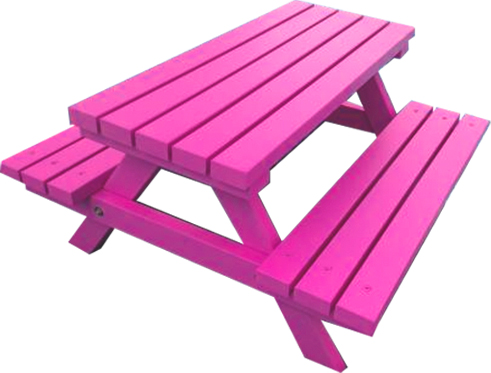 Pink Picnic Bench Hire