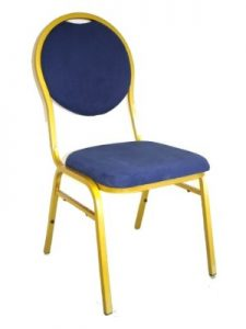Blue & Gold Banquet Chair Hire London