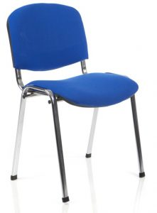 Stacking Conference Chair Hire - Blue S001C London