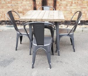 Gunmetal Outdoor Chair and Table Hire London