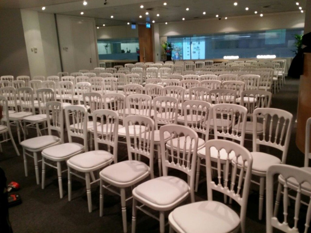 White Banquet Chair Hire London