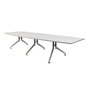 4.8m White Boardroom Table Hire London