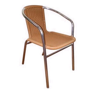 Aluminium Sand Rattan Cafe Chair Hire London
