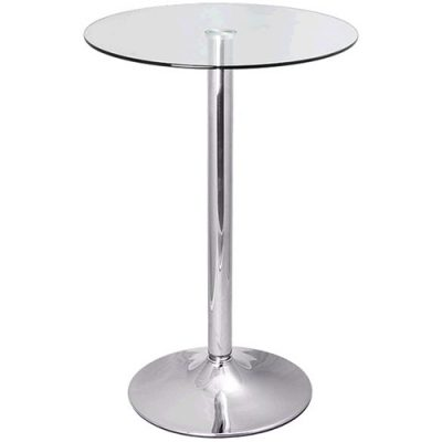 Glass Top Trumpet Poseur Table hire London