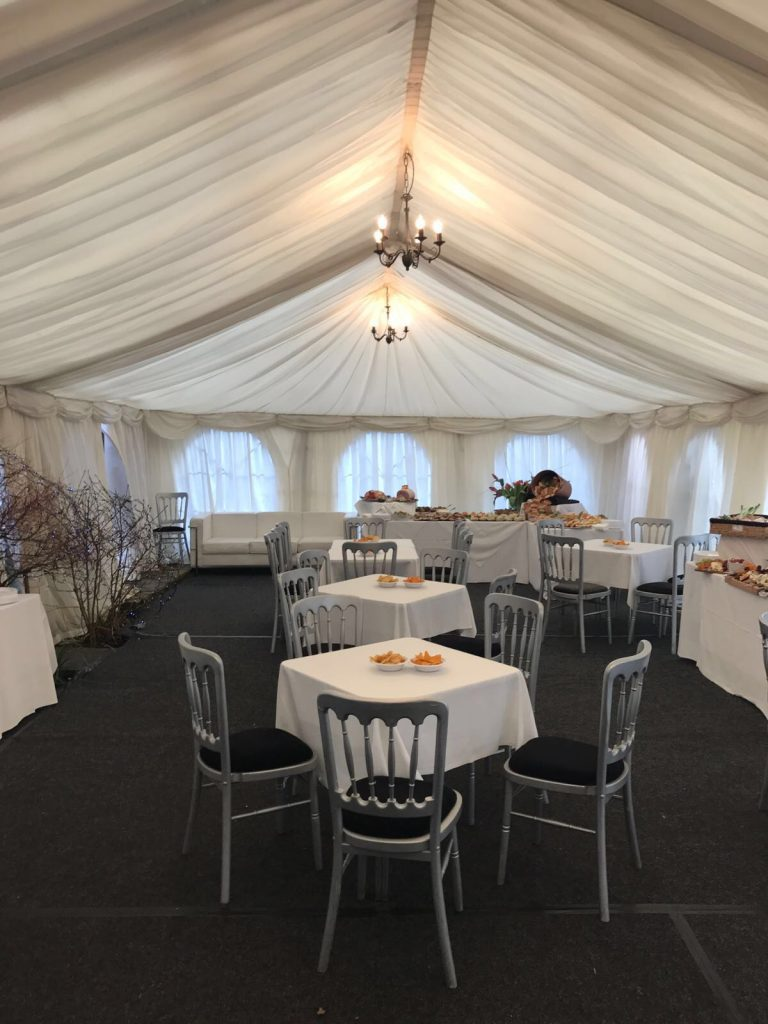Silver Banquet Chair Hire London