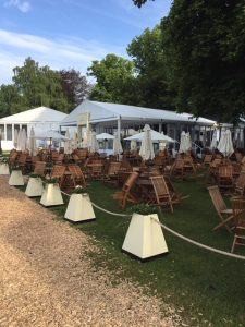 Outdoor Wooden Chair and Table Hire London
