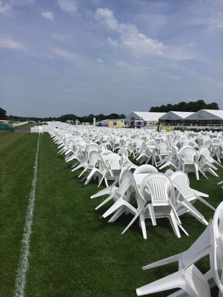 Outdoor White Plastic Event Chair Hire London