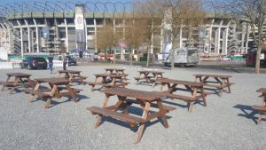 Wooden Picnic Bench Hire London