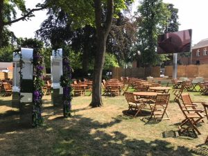 Wooden chair and table hire London