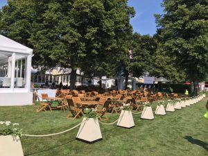 Wooden outdoor furniture hire London