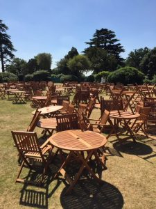 Wooden Tables and Chair Hire