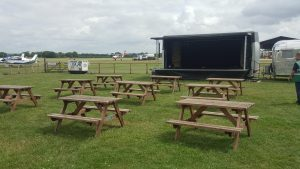 Wooden Picnic Table Hire London