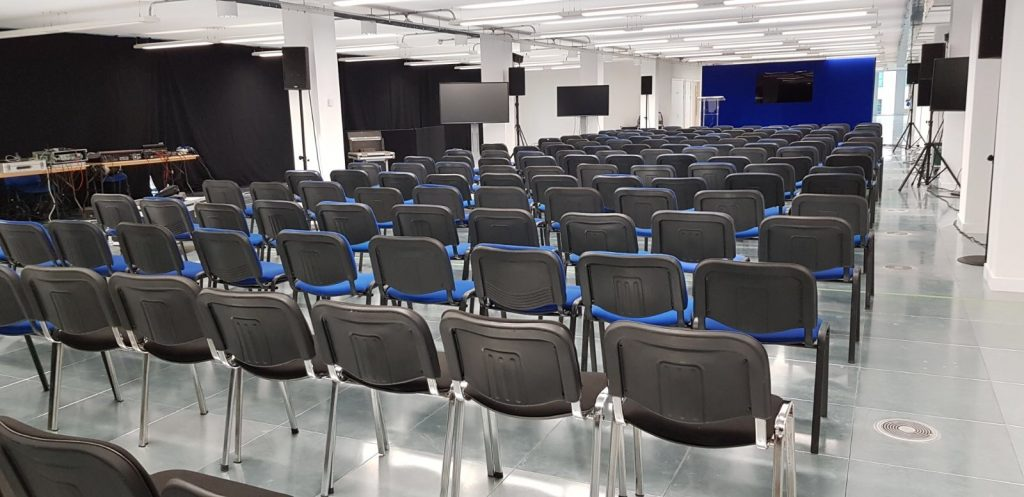 Blue conference chair hire London