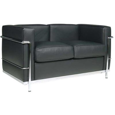Le Corbusier 2 Seat Sofa Hire Black