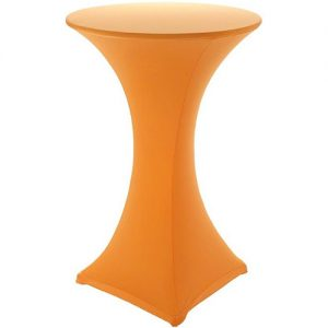 Orange Covered Poseur Table Hire