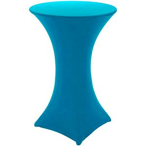 Turquoise Covered Poseur Table Hire London