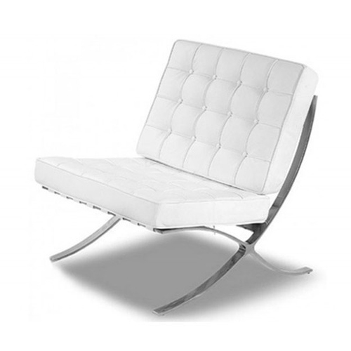 White Leather Barcelona Chair Hire London