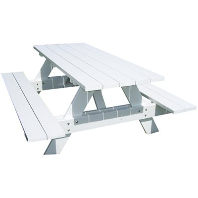 White Picnic Bench Hire London