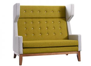 Ray Sofa Green and Grey Hire London