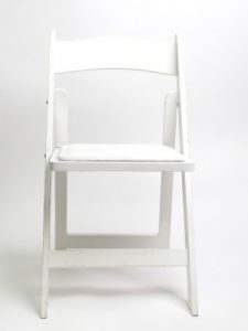 White Folding Banquet Chair Hire London