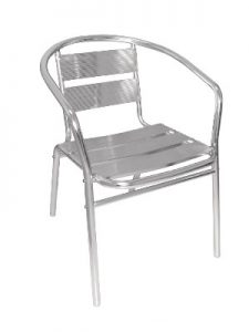 Aluminium Cafe Chair Hire London