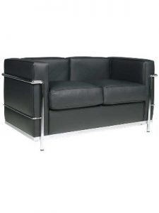 Le Corbusier 2 Seat Sofa Hire - Black London