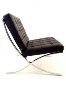 Black Leather Barcelona Chair Hire London