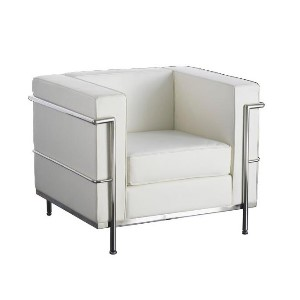 Le Corbusier Armchair Hire - White London