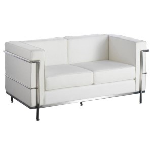 Le Corbusier 2 Seat Sofa Hire - White London