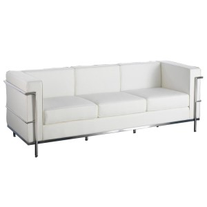Le Corbusier 3 Seat Sofa Hire - White London
