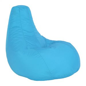 Blue Pear Shaped bean bag Hire London