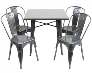 Outdoor Gunmetal Chairs and Table Hire London