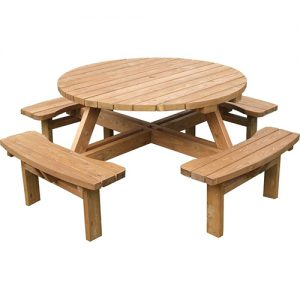 Round Picnic Bench Hire London