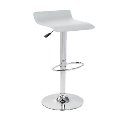 white-leather-saddle-bar-stool-hire London