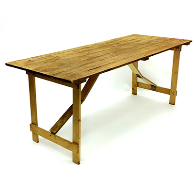 Rustic Wooden Table Hire London
