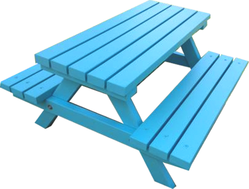 Blue Picnic Bench Hire