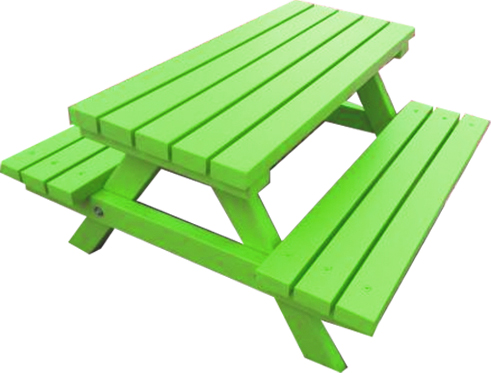 Green Picnic Bench Hire
