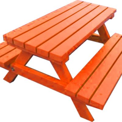 Orange Picnic Bench Hire