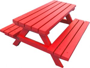 Red Picnic Bench Hire