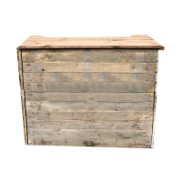 Rustic Wooden Mobile Bar Hire London